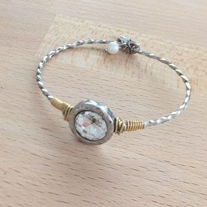 Jewelry - Crave Silvertone and Clear Crystal Bracelet